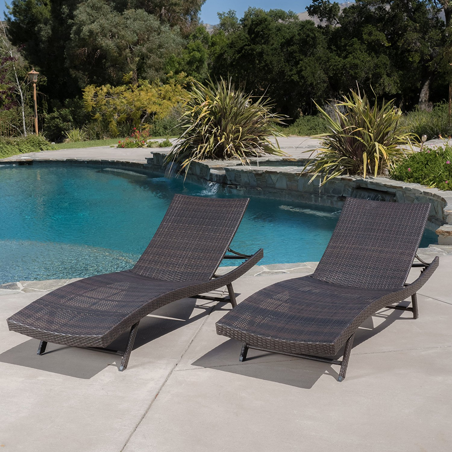 Best pool chairs patio chaise lounge 2018 for Alyssa outdoor chaise lounge