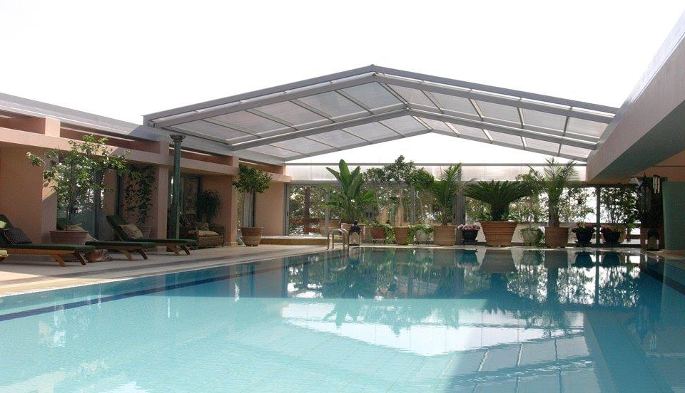Swimming Pool metal Roof