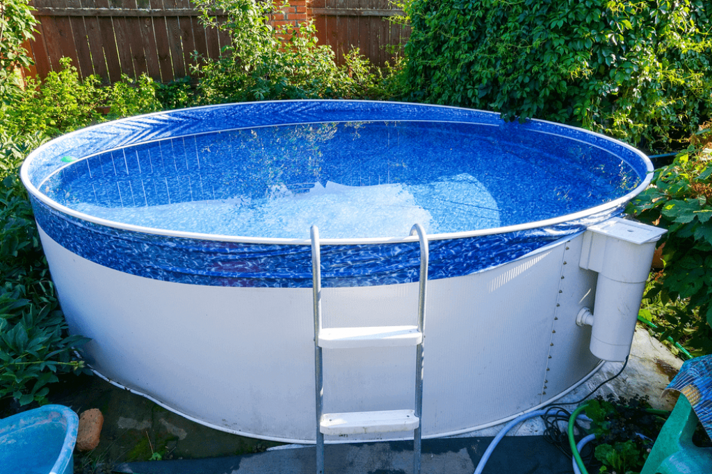 how unlevel can an intex pool be