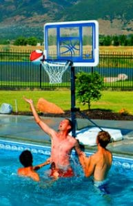 poolside basket ball hoops
