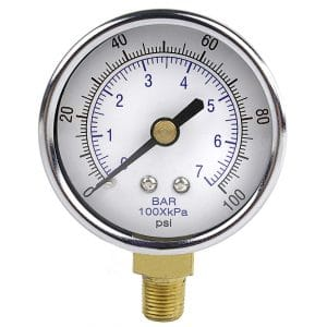 pressure gauge for pool filter