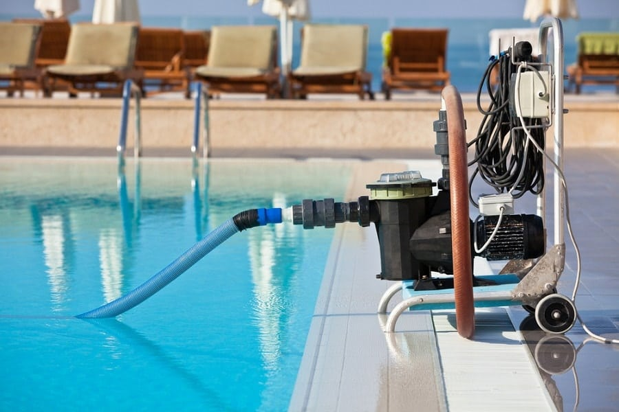 Pool Pump To Swimming Pool Connected