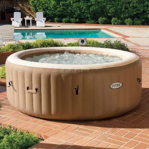 how to move a hot tub on grass