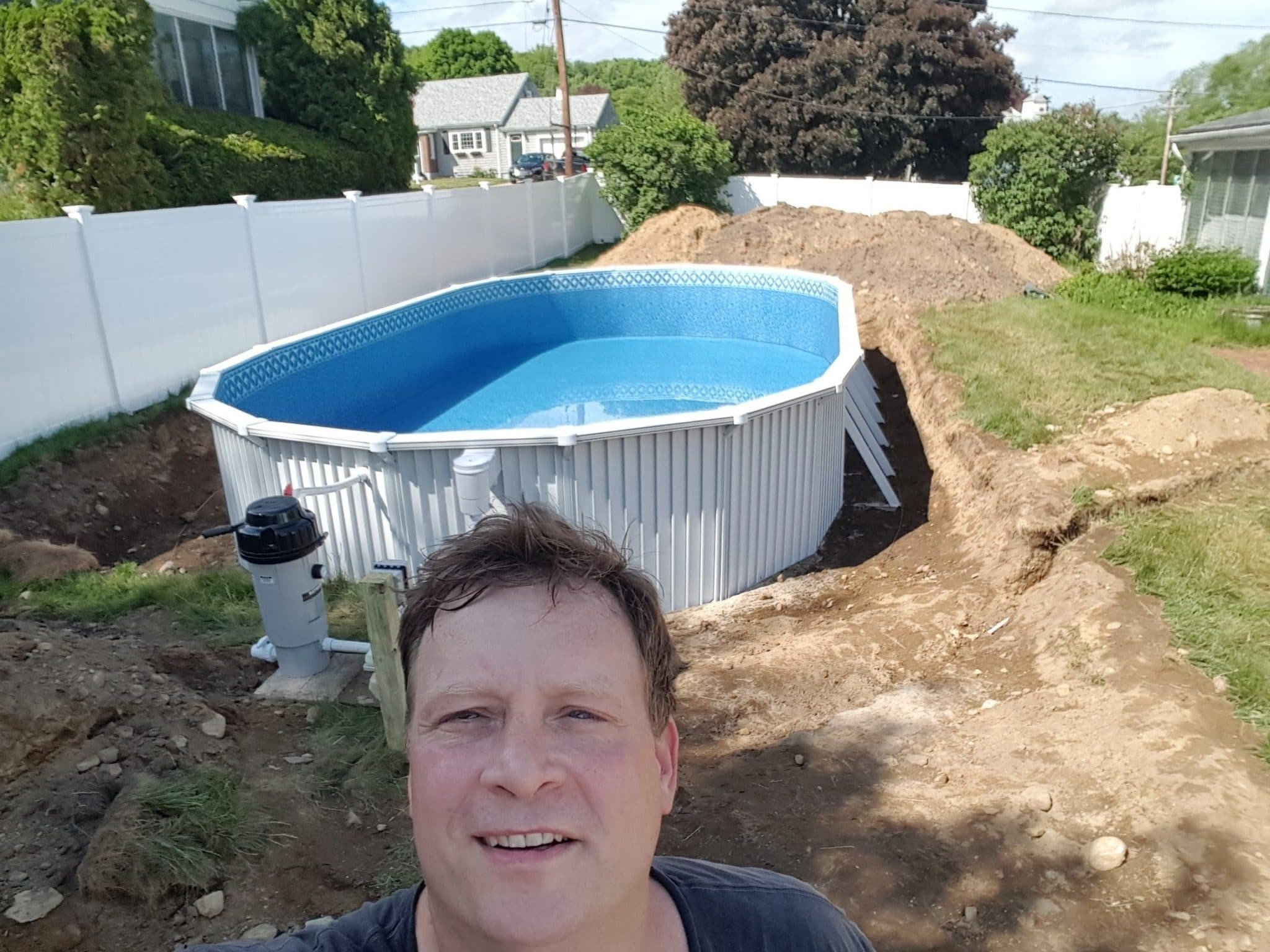 how to install a semi inground pool