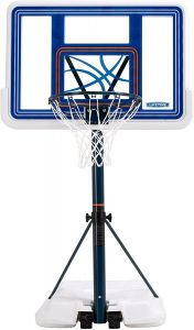 basketball hoop for pool deck