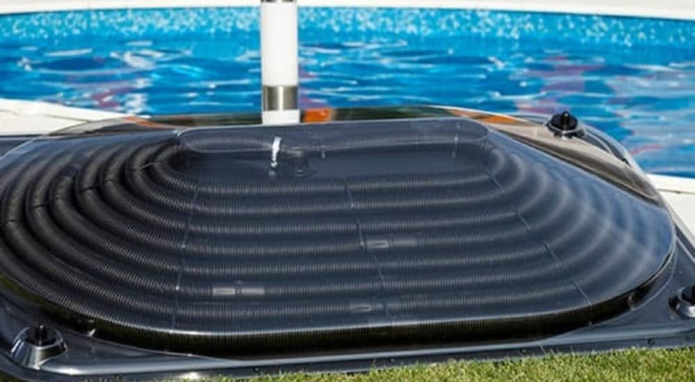solar pool heating with panels