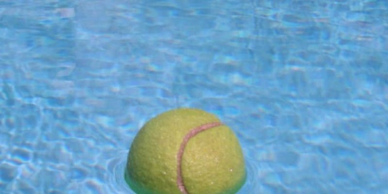 Using a tennis ball can actually be a great help to keep the pool clean. You simply have to drop a tennis ball into the pool and let it stay for a while.It actually absorbs any oils that are in the water of the swimming pool